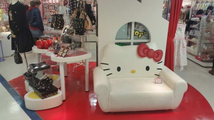 Hello Kitty sofa at the flagship shop in Ginza Tokyo