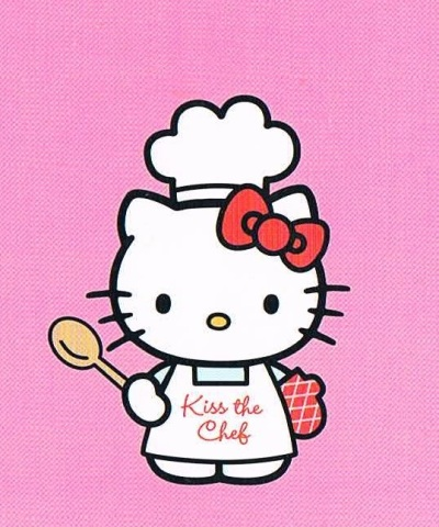 kawaii Hello Kitty in chef outfit