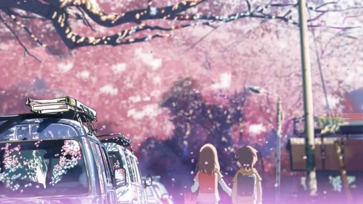 cherry blossoms in anime