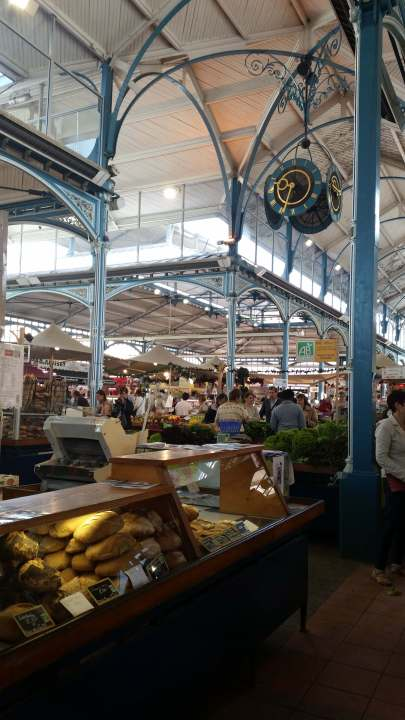 Les Halles the main food hall in dijon france