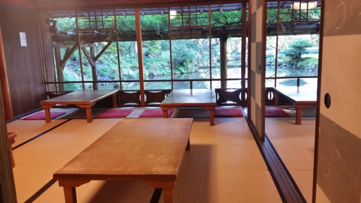 Teahouse room in Kenrokuen Gardens Kanazawa