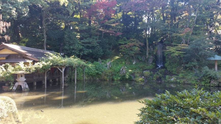 Teahouse in kenrokuen gardens kanazawa