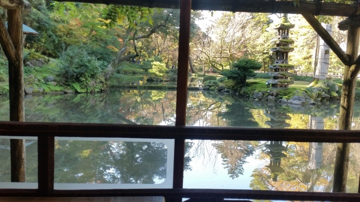 View from a teahouse in Kenrokuen Garden