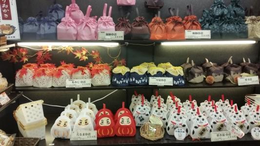 bags of sweets nishiki market kyoto