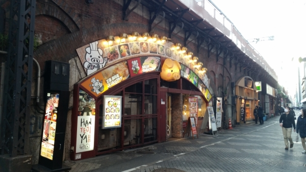 yurakucho station railway line restaurant tokyo eating in tokyo