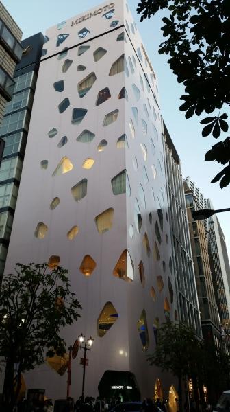 Japanese pearl company Mikimoto shop in Ginza Tokyo
