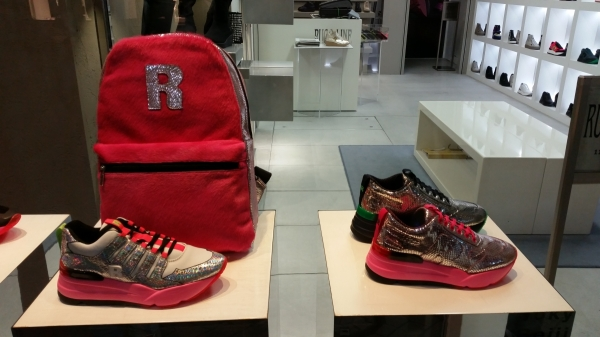 trendy trainers in a ginza boutique tokyo shopping japan