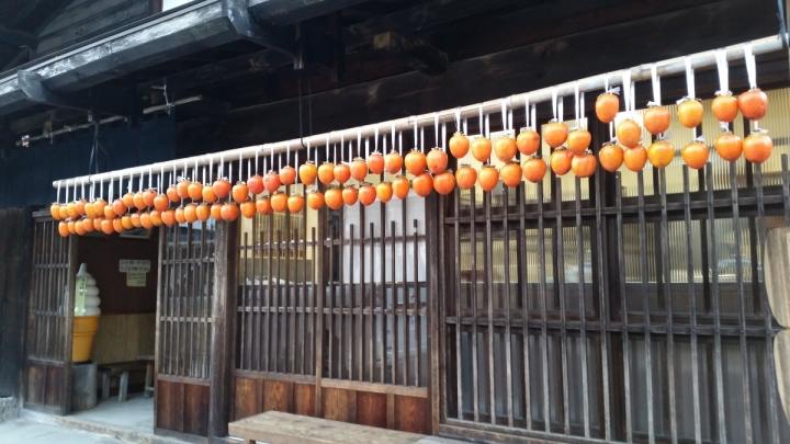 japanese traditional food persimmon tsumago