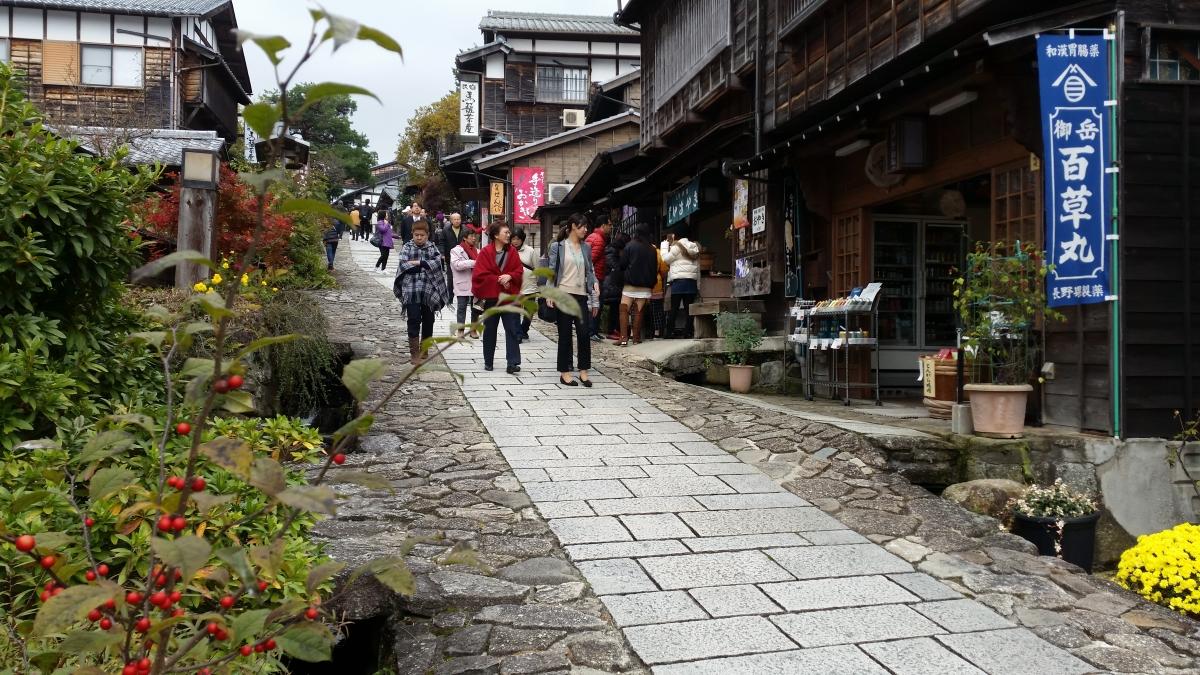 magomejuku post town kiso valley nagano japan