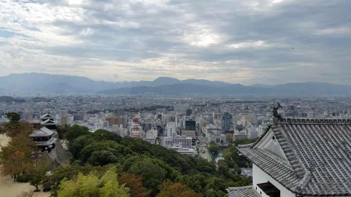 view from the top of Matsuyama Caslte