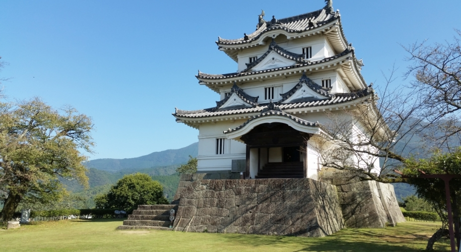 Uwajima castle Ehime prefecture is one of Japans 12 original castles