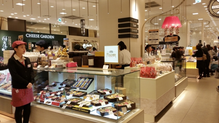 Hankyu department store Osaka basement food hall depachika