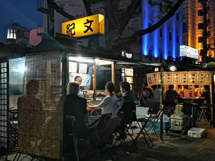 Yatai food stall in Fukuoka Japan