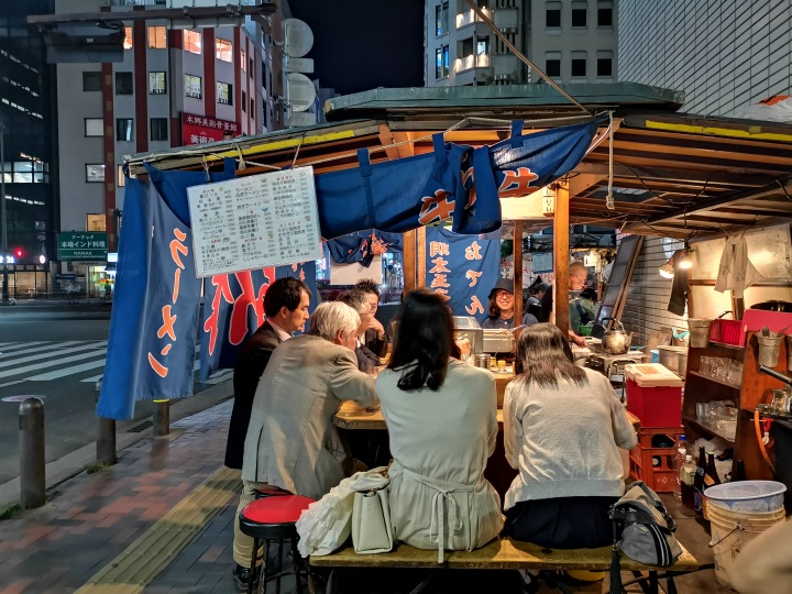 a yatai food stall in Fukuoka Japan